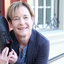 Arlette Koch hat keinen Fersensporn mehr dank Anova Schuh