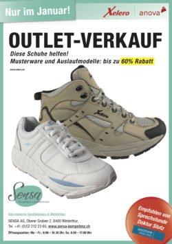 Outletverkauf Xelero Schuhe bei Sensa AG